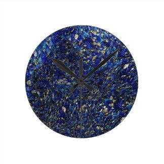 Blue opal round clock