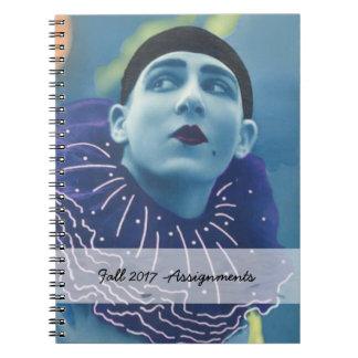 Blue Opera Clown Notebook