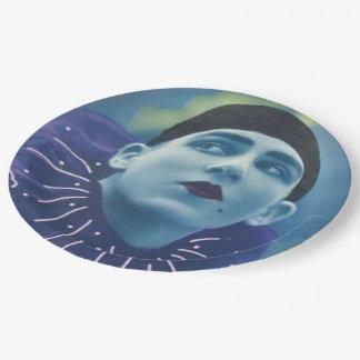 Blue Opera Clown Paper Plate