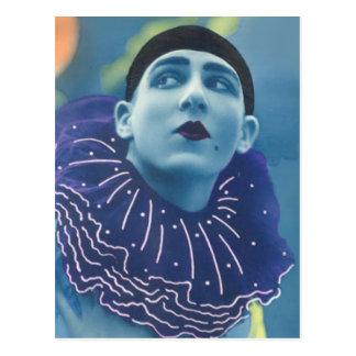 Blue Opera Clown Postcard