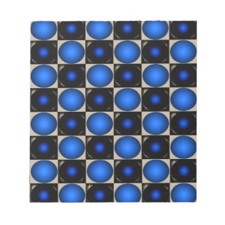 Blue Optical Illusion Chess Board CricketDiane Memo Pads