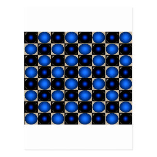 Blue Optical Illusion Chess Board CricketDiane Postcard