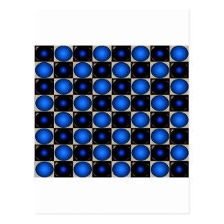 Blue Optical Illusion Chess Board CricketDiane Postcards