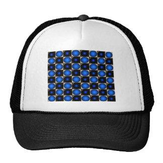 Blue Optical Illusion Chess Board CricketDiane Trucker Hat