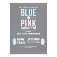 BLUE OR PINK | GENDER REVEAL PARTY INVITATIONS