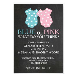 Blue or Pink Gender Reveal Party Invite Chalkboard