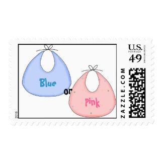 Blue or Pink Gender Reveal Stamp