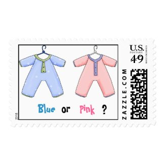Blue or Pink Gender Reveal Stamp