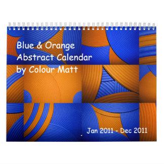 Blue & Orange Abstract 2011 Calendar Calendars