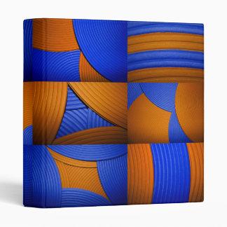 "Blue & Orange Abstract Pattern 1"" Binder"