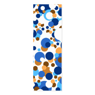Blue, orange and brown confetti business card template