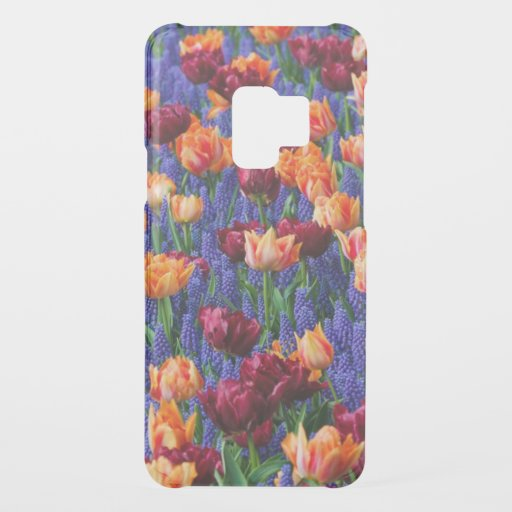 Blue, Orange and Red Flowers Uncommon Samsung Galaxy S9 Case