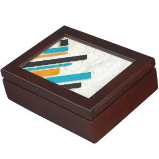 Blue, Orange & Black Modern Design Memory Boxes