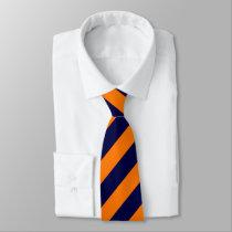 Blue & Orange Brigade Diagonally-Striped Tie