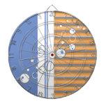 Blue Orange Bubble Strip Backgound Dart Boards