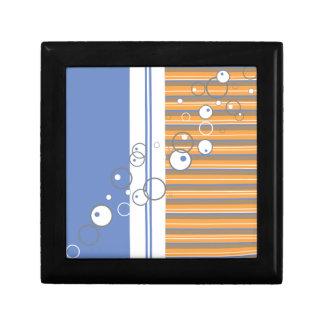 Blue Orange Bubble Strip Backgound Keepsake Boxes