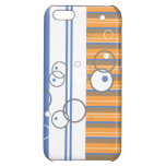 Blue Orange Bubble Strip iPhone 5C Cases