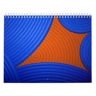 Blue & Orange Calendar (July 2010 - June 2011) Calendars
