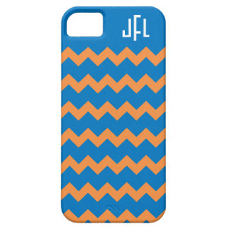 Blue & Orange Chevron Monogrammed iPhone5 case iPhone 5 Cover