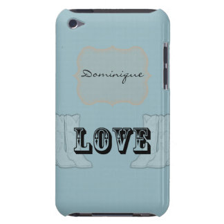 Blue Orange Country Boots Love Barely There iPod Cases