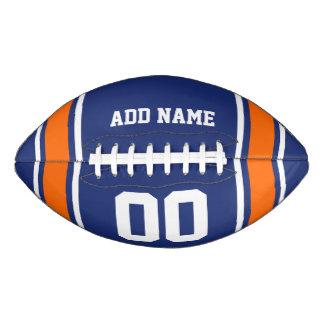 Blue Orange Football Jersey Stripes