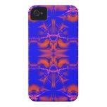 blue orange fractal blackberry case
