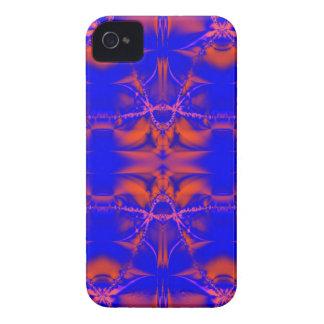 blue orange fractal iPhone 4 cover