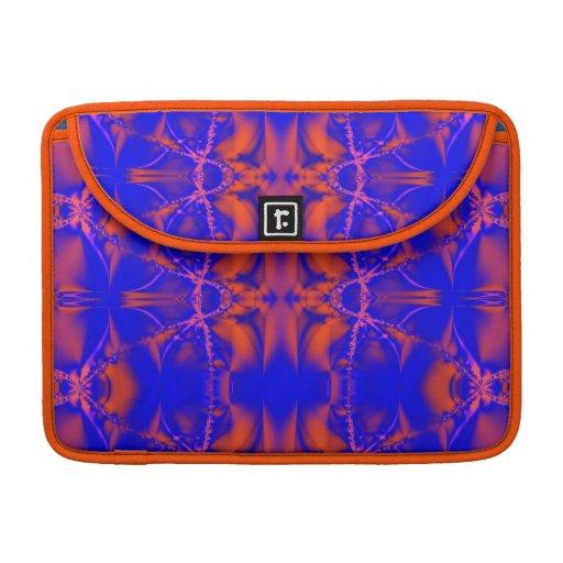 blue orange fractal MacBook pro sleeves