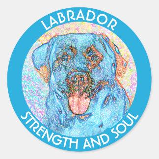 Blue Orange Labrador Psychedelic Retriever Classic Round Sticker
