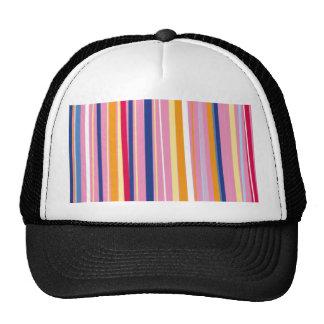 Blue Orange on Pink Stripes Trucker Hat