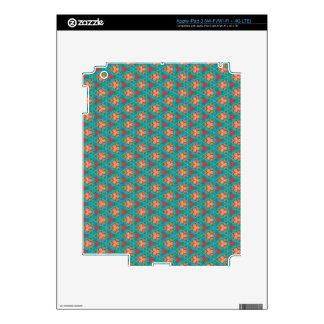 blue orange pattern decal for iPad 3
