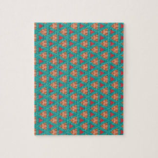blue orange pattern jigsaw puzzle