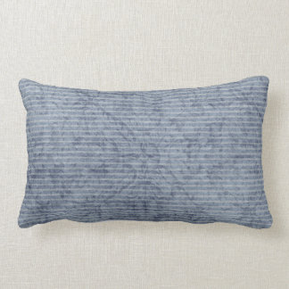 Blue & Orange Polka Dot Reversible Pillow