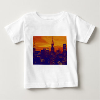 Blue Orange Pop Art New York City Baby T-Shirt
