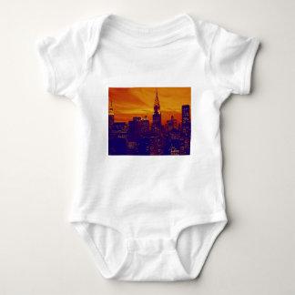 Blue Orange Pop Art New York City Shirt