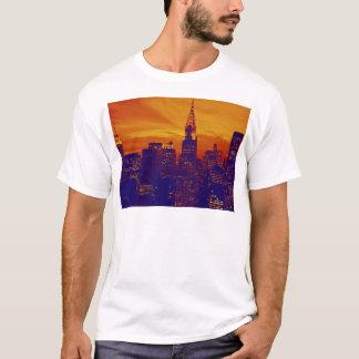 Blue Orange Pop Art New York City T-Shirt