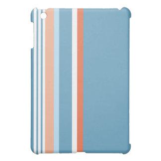 Blue Orange stripe Cover For The iPad Mini