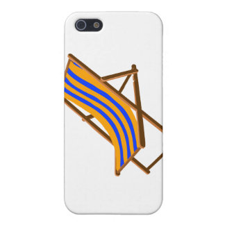 blue orange striped wooden beach chair.png case for iPhone SE/5/5s