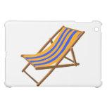 blue orange striped wooden beach chair.png iPad mini covers
