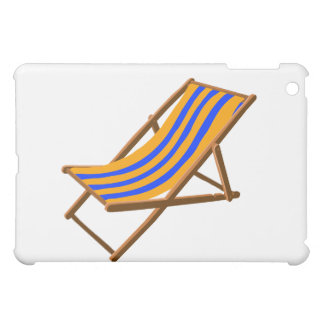 blue orange striped wooden beach chair.png iPad mini covers