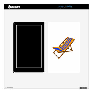 blue orange striped wooden beach chair.png decals for kindle fire