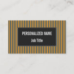 [ Thumbnail: Blue & Orange Stripes/Lines Pattern Business Card ]