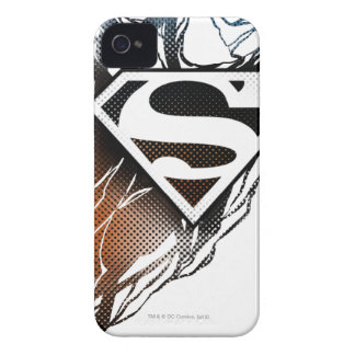 Blue-Orange Superman Logo iPhone 4 Cover