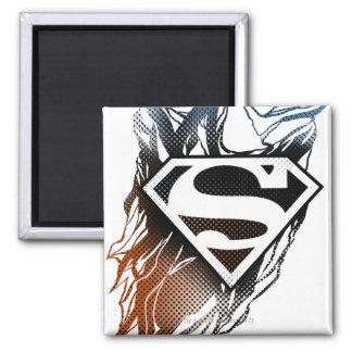 Blue-Orange Superman Logo Magnet