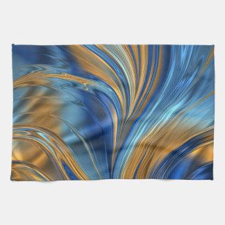 Blue orange swirls hand towel