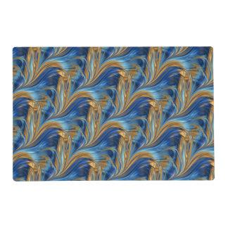Blue orange swirls placemat