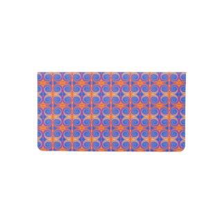 Blue Orange Yellow Swirl Pattern Checkbook Cover