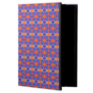 Blue Orange Yellow Swirl Pattern Powis iPad Air 2 Case