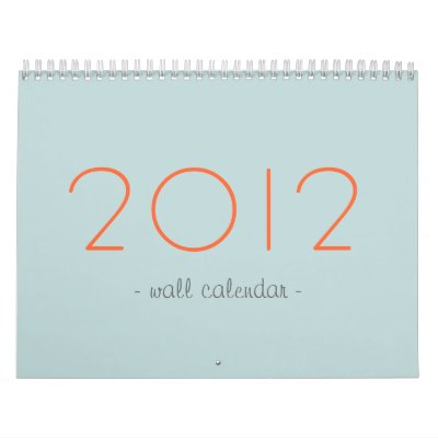 Blue & Orange  Your Photos 2012 Wall Calendar