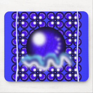 Blue Orbs Mouse Pad